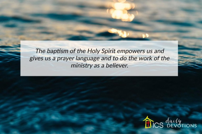 The Doctrine of Baptisms – In Christ Singapore