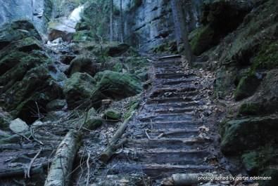 Der alte Wanderweg in den Schwedenlöchern