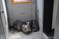 Mehrmals täglich wird auch der Müllsammler geleert