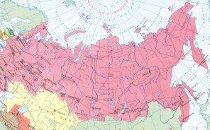 Ein Ausschnitt aus Inchs früherer Welt. Wladiwostok ganz unten rechts