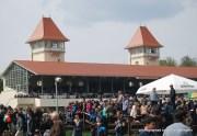 Blick von der Picknickwiese zur Haupttribüne
