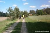 Hinter Wittenberg begleitete uns ein netter älterer Herr ein Stück des Wegs