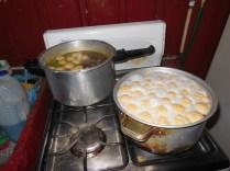 I made about 45 matzoh balls