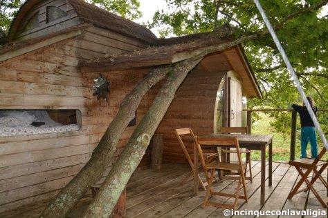 Dormire su un albero in Bretagna