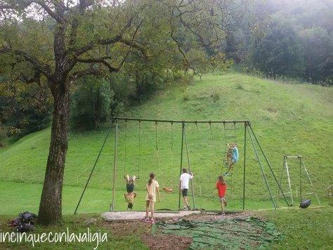 Val Vertova con bambini