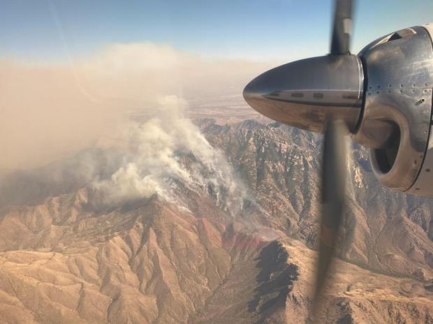 Aerial View of the Sycamore Canyon Fire May 24, 2021