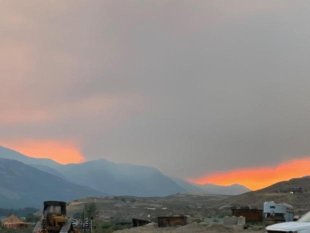 View of fires from Winthrop on 7/13