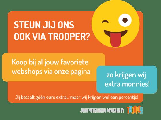 Trooper Zewopa Banner: Steun jij ons ook via Trooper?