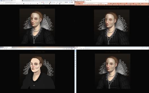 Captura de pantalla de cuatro navegadores distintos