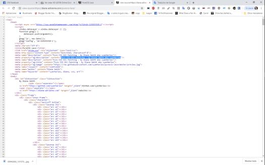 Vista del código fuente