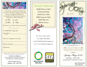 Spring Fling 2016 Brochure front page