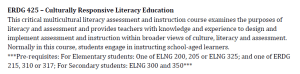– Culturally Responsive Literacy Education
