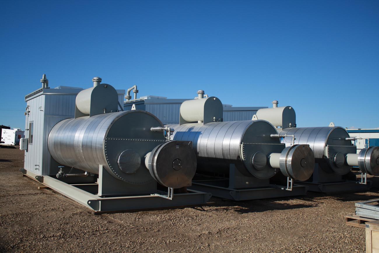 New Surplus 2 75 MM Btu hr , Skidded Line heater