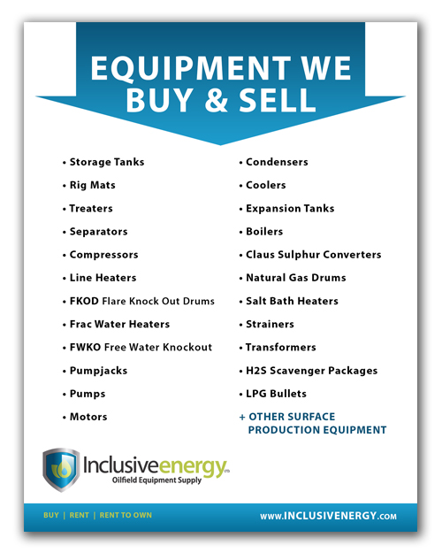 Oilfield Equipment we Buy and Sell