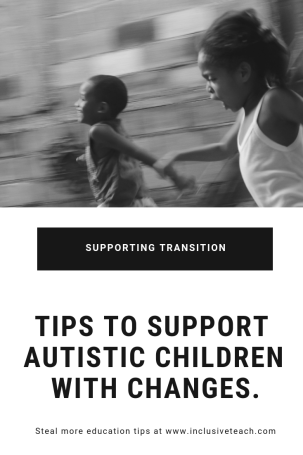 Autism and change pinterest graphic