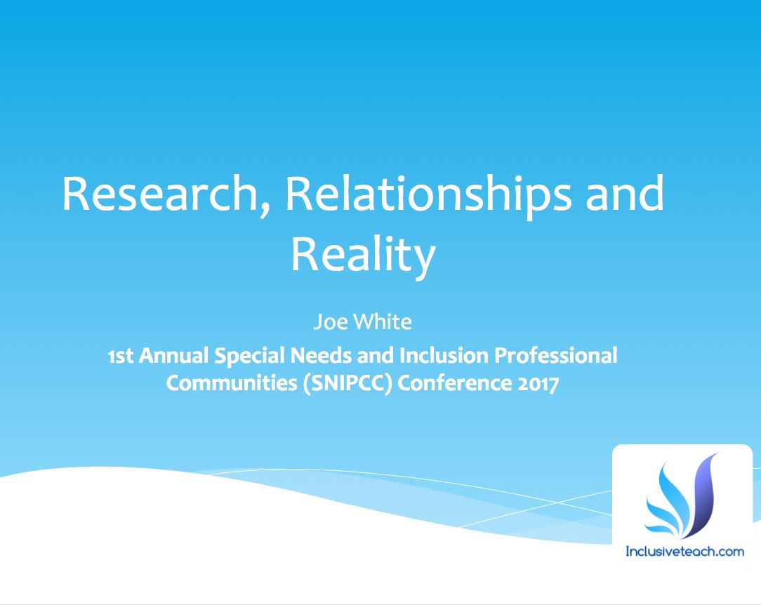 SNIPCC inclusion conference reality