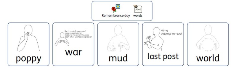 vocabulary free printable remembrance day makaton version