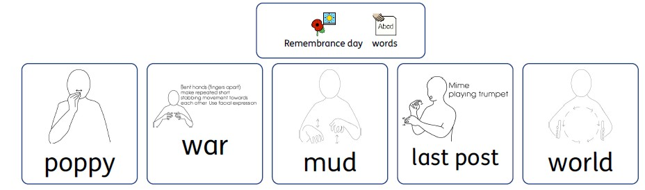 vocabulary free printable remembrance day makaton version