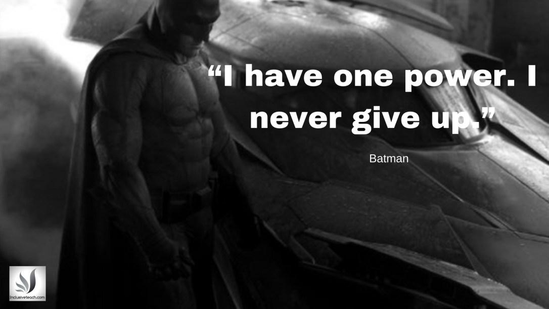 Batman quote education