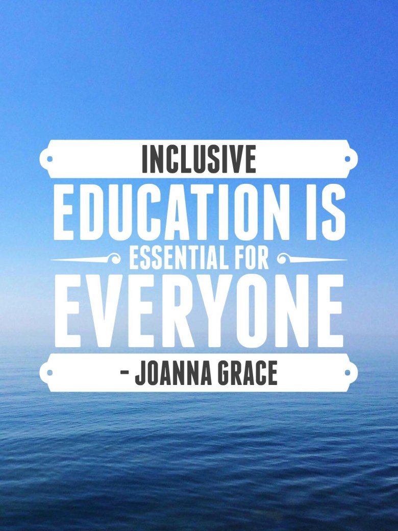 A quote from inclusive teach Autism resources Blog Ideas