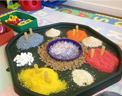Sensory play Autism tuff tray