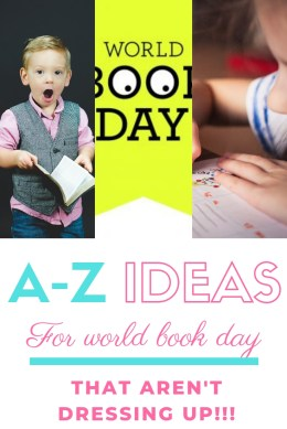 ideas for world book day that aren't dressing up