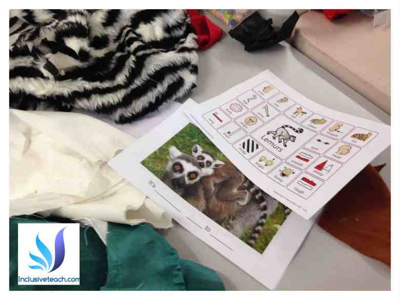 lemur tactile book sensory activity