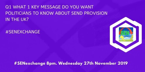 What 1 key message do you want Politicians to know about SEND provision in the UK