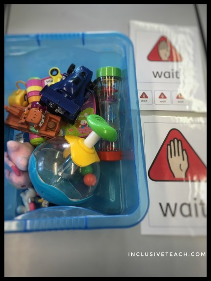 Wait box teaching autistic children to wait