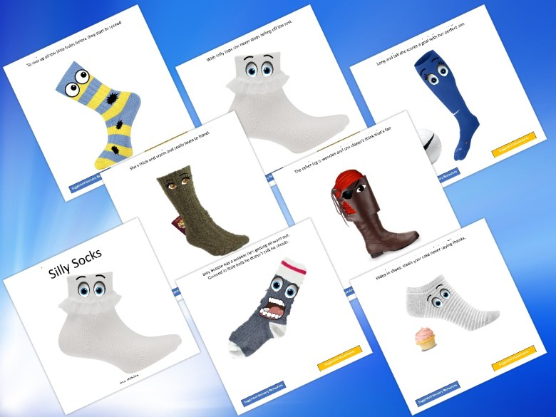Silly sock Pirate sport sensory story