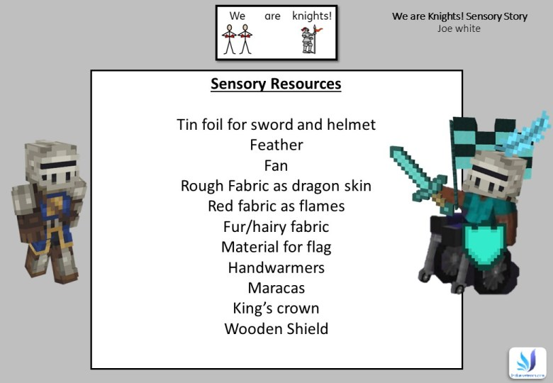 Sensory story required resources