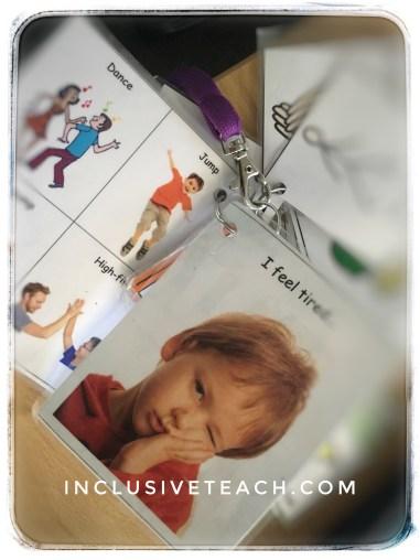 Communication lanyard autism and communication aac