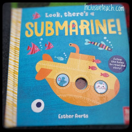Looks there's a submarine transport book front cover children's board book teaching