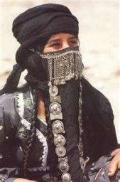 Egyptian woman in traditional Muslim dress