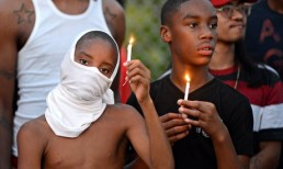 Protesters on West Florissant Avenue in Ferguson last week after the police killed Michael Brown.