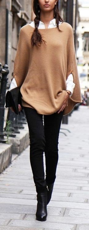 fall fashion, poncho, luxurymaman