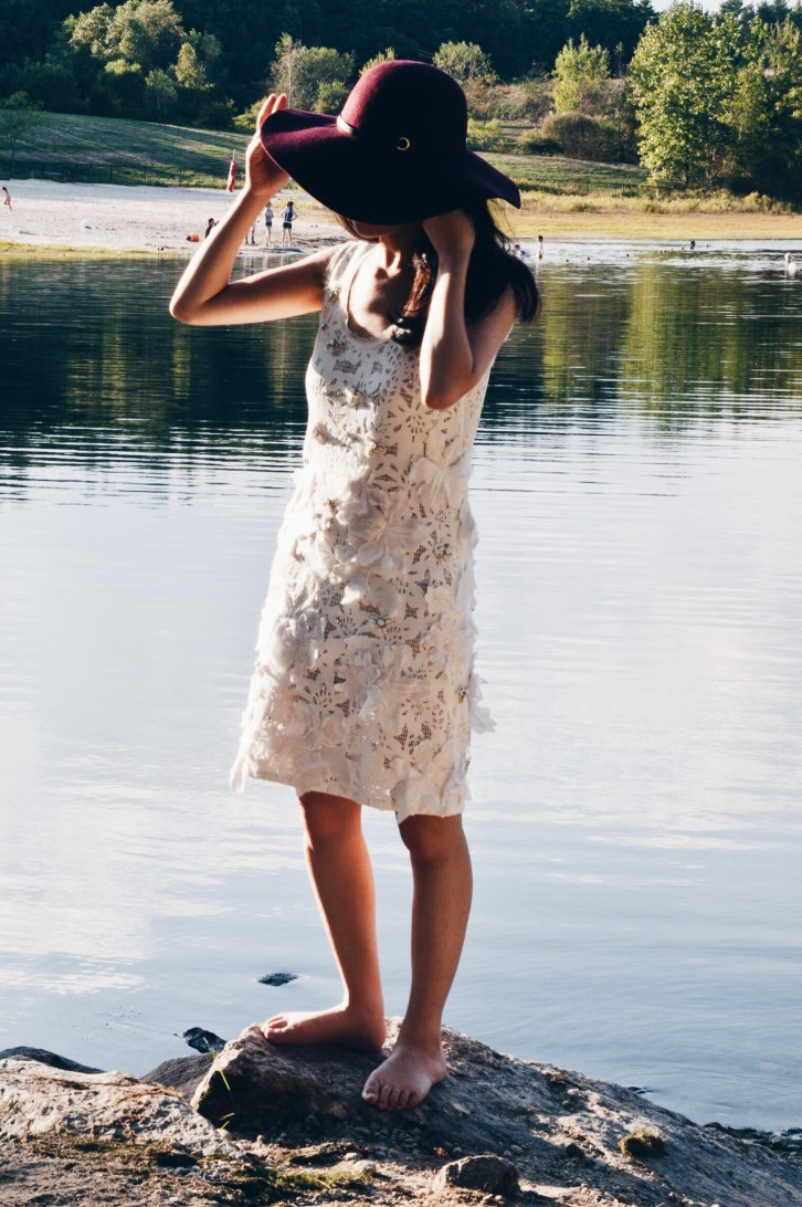 white lace dress, rebecca taylor, luxurymaman