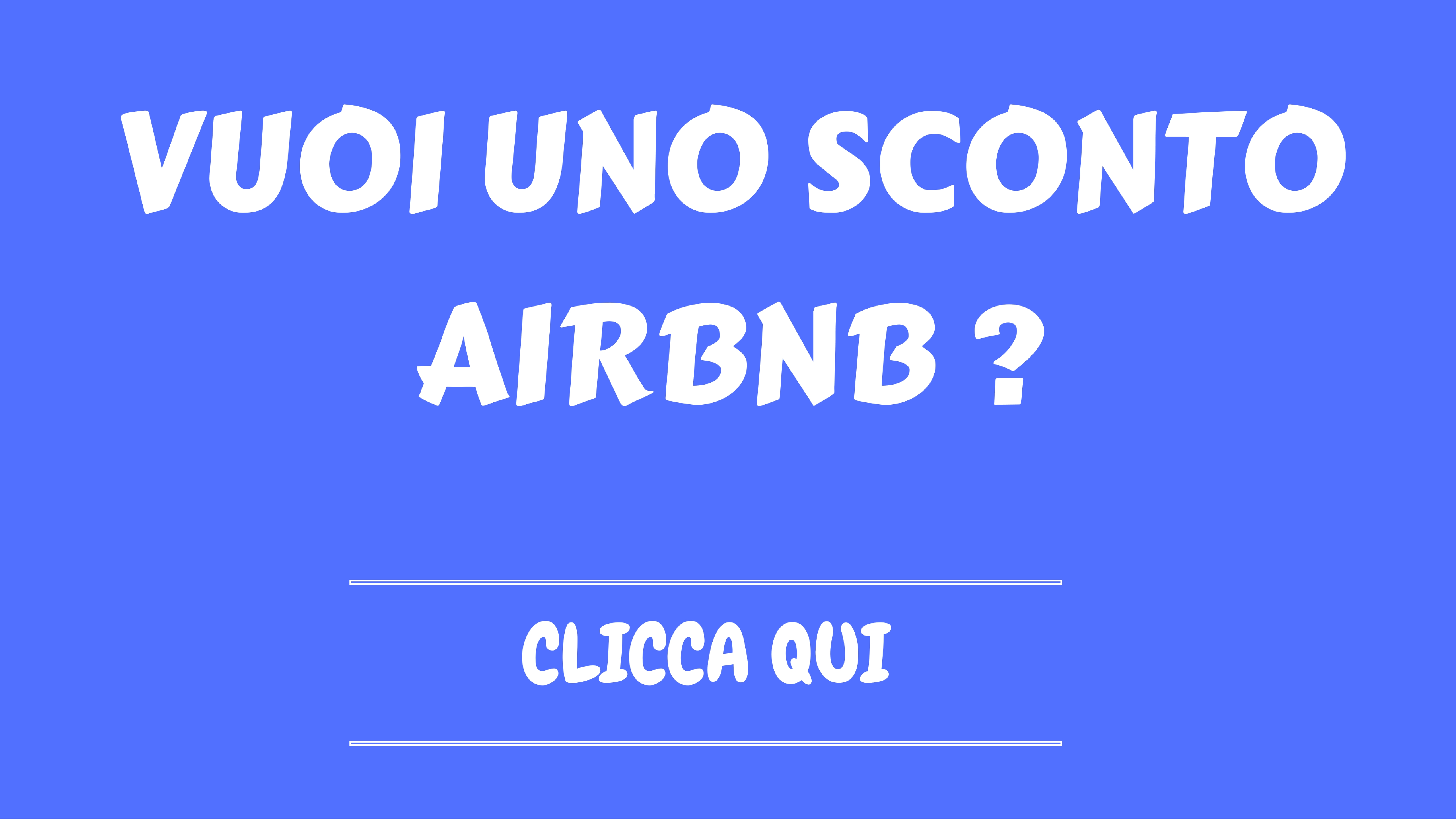 Sconto airbnb