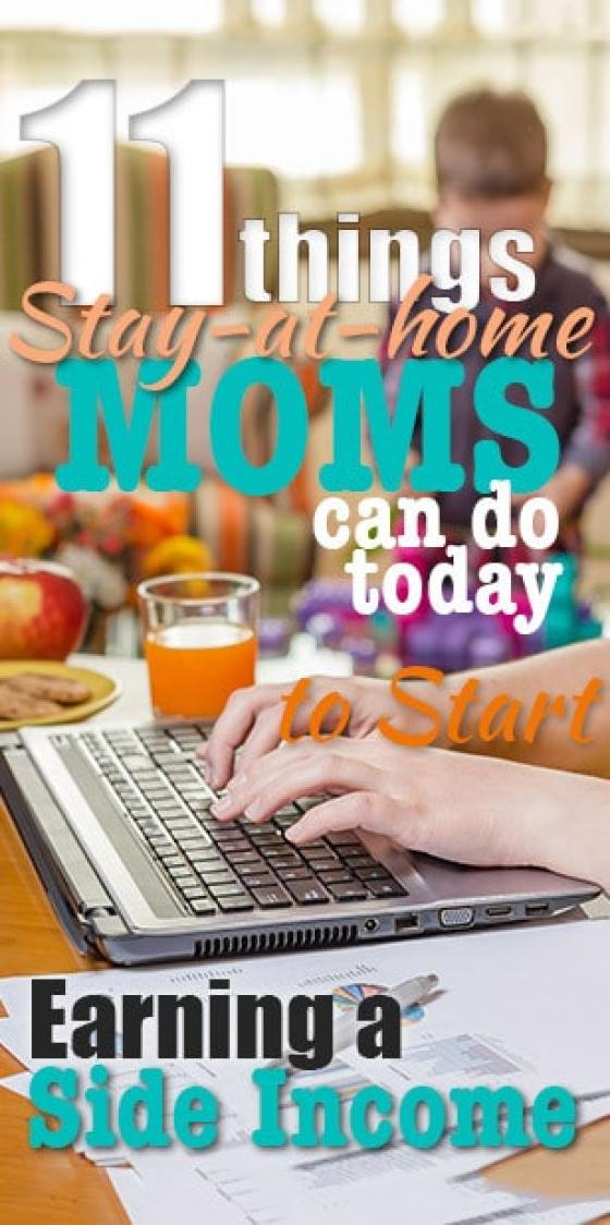 make money on the side 11 ideas for SAHM