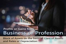 Block of Assets on the basis of Class of Assets and Rates of Depreciation - for Computing Profits and Gains of Business or Professions