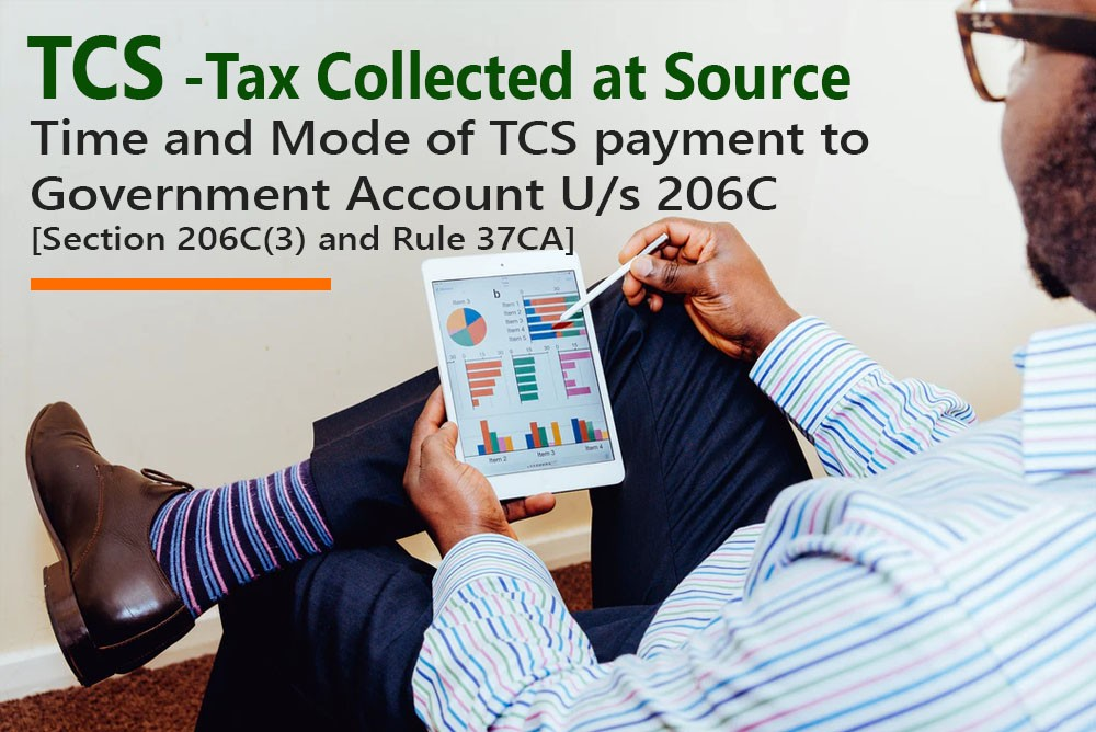 [Section 206C(3) and Rule 37CA] - Time and Mode of TCS payment to Government Account U/s 206C