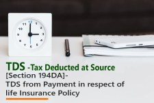 [Section 194DA]- TDS from Payment in respect of life Insurance Policy