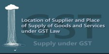 Location of Supplier and Place of Supply of Goods and Services under GST Law