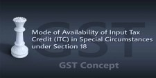 [Section 18] Mode of Availability of Input Tax Credit (ITC) in Special Circumstances