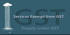 Services Exempt from GST