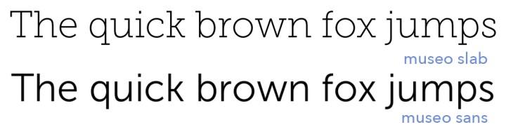 Una familia con dos tipos de tipografías: Slab y Sans