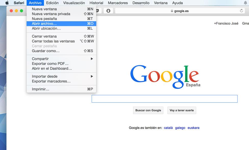 Abre el html desde el navegador.