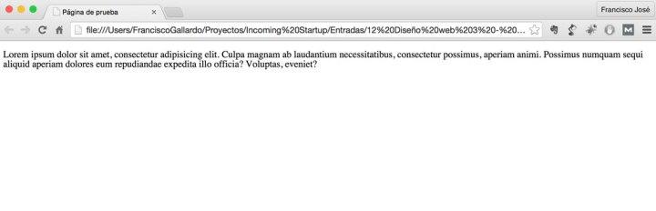 Aspecto de nuestro html al abrirlo con el navegador.