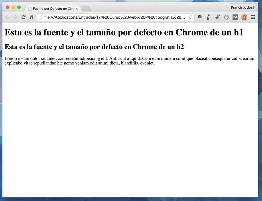 Renderizado de Chrome de nuestro html