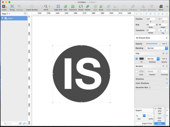 Exportando a svg en Sketch